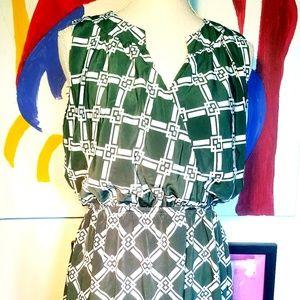 NWOT ANTHRO GREEN PRINT DRESS